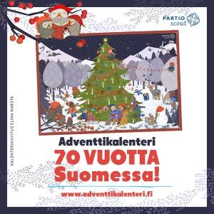 partiolaisten joulukalenteri 2018 hinta partiolaisten adventtikalenteri verkkokauppa | Helsingin Kalevan  partiolaisten joulukalenteri 2018 hinta